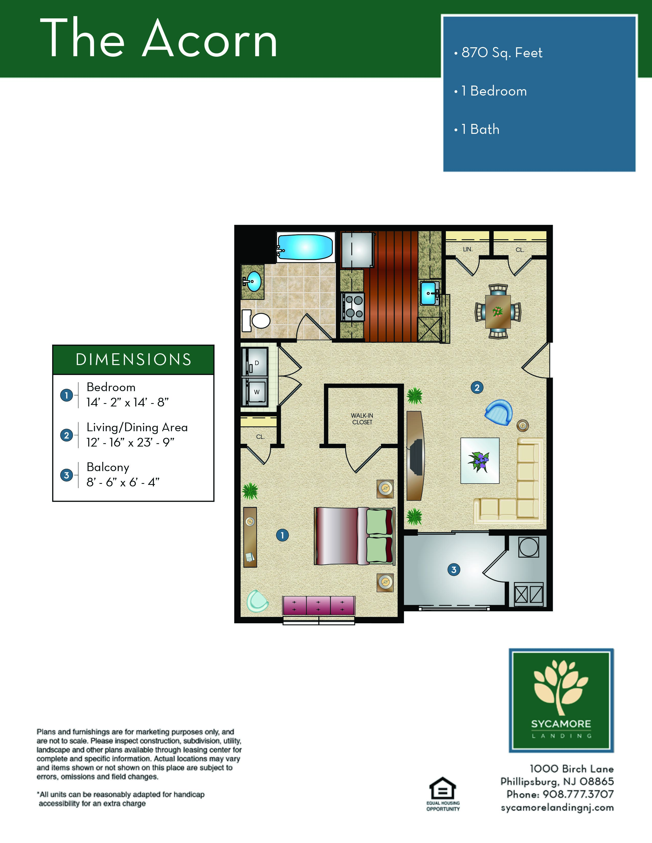 Sycamore Landing Floor Plan - The Acorn