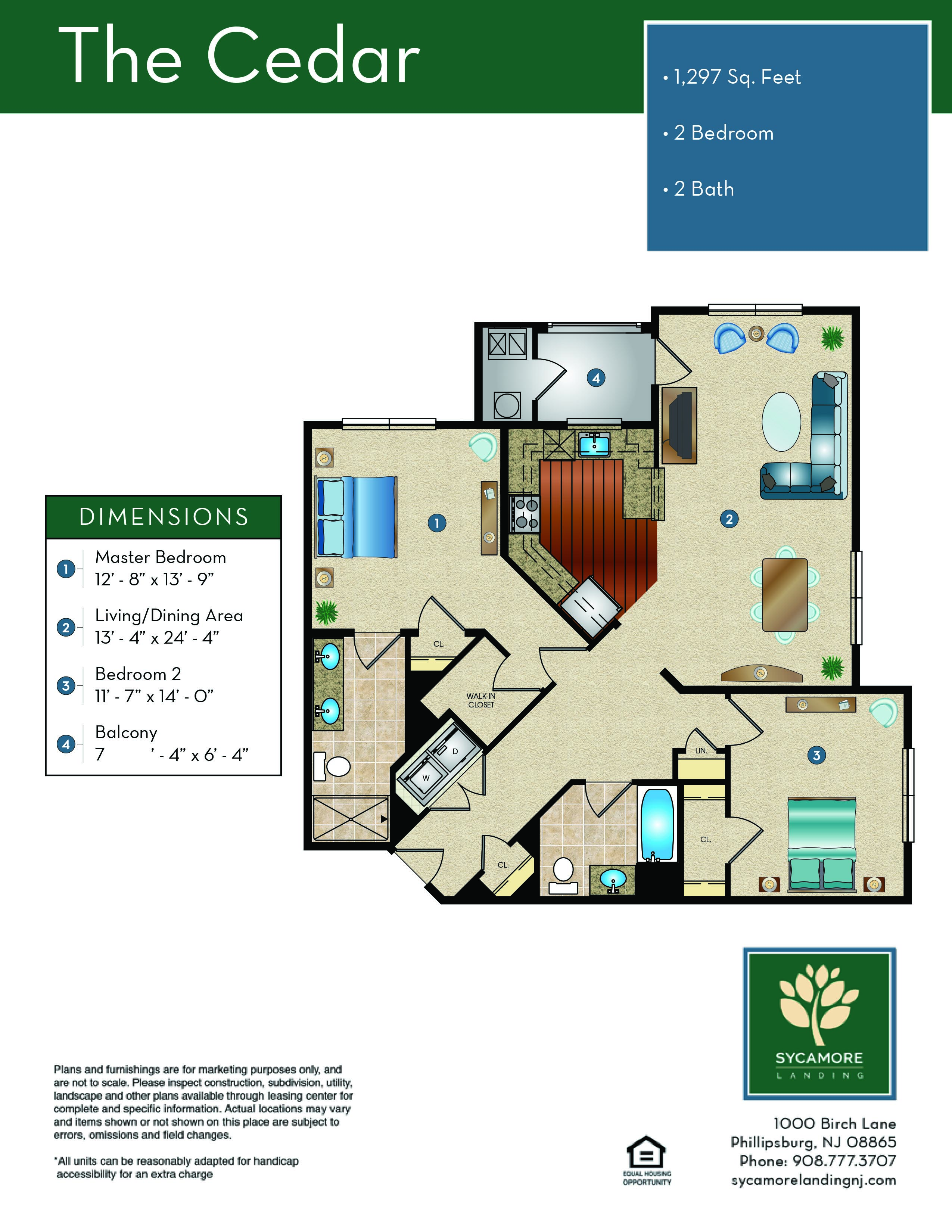 Sycamore Landing Floor Plan - The Cedar